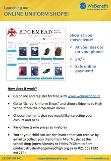 EHS launches online Uniform Shop!