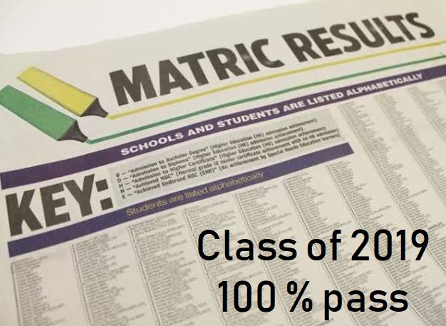 2019 Matric results!